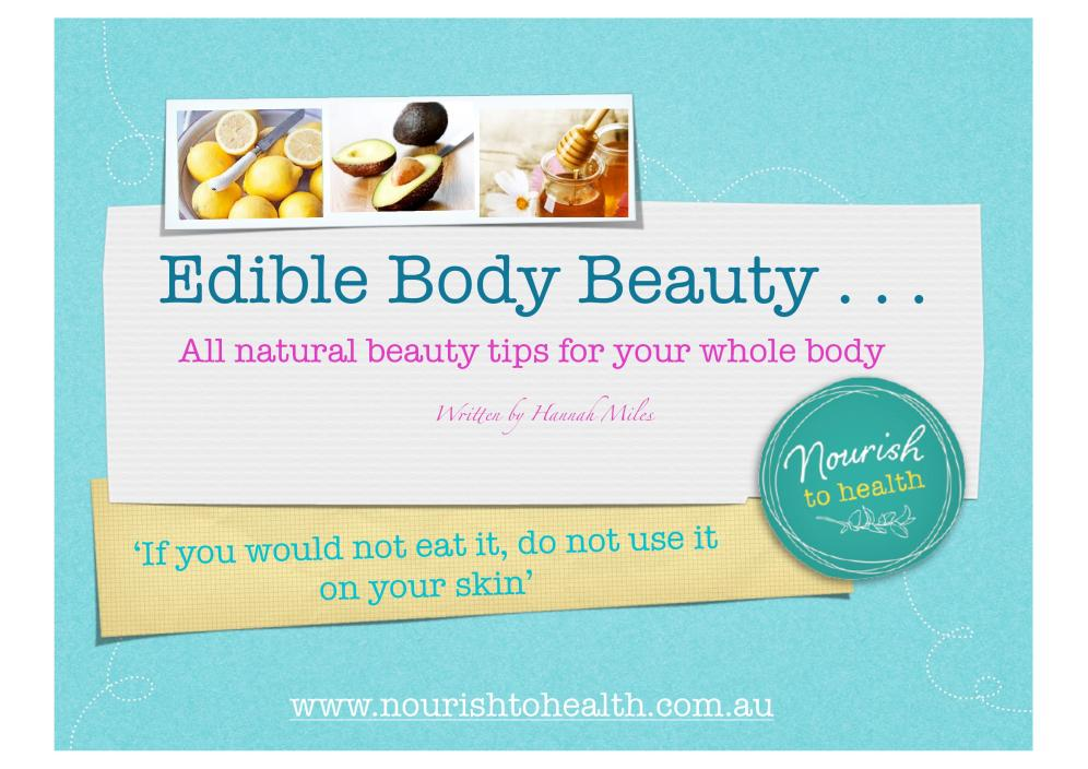 Edible Beauty E-Book